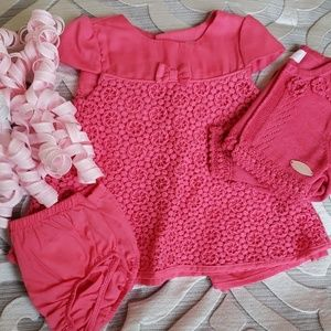 💞Mayoral Newborn Fancy Pink Dress and Sweater💞